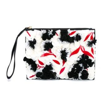 MARNI | Large Embellished Zip Leather Pouch | Womenswear | Browns Fashion