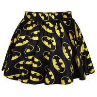 Batman Cosplay Pleated Elastic Skirt
