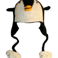 Agan Traders Wool Animal Hat Penguine Black/Yellow OneSize