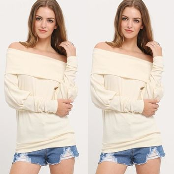 Autumn Women's Fashion Long Sleeve Tops [8098140103]