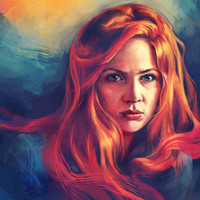Amy Pond Art Print by Alice X. Zhang