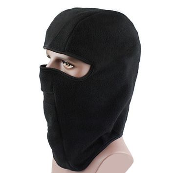 Neck Warmers Polyester Balaclavas For CS Hat Headgear Winter Skiing Ear Windproof Warm Face Mask Motorcycle Bicycle Scarf