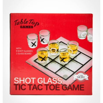 Tabletop Tic Tac Toe Shot Glass Drinking Game
