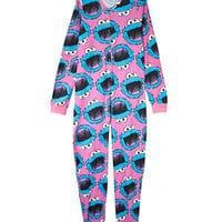Teens Pink Cookie Monster Onesuit