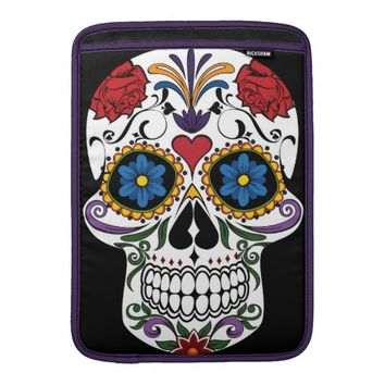 Colorful Sugar Skull MacBook Air Sleeve