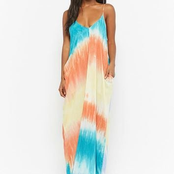 Tie-Dye Cami Maxi Dress