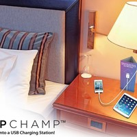 LampChamp (2-PACK) - USB Lamp Socket Charger & Adapter for Cell Phones / Tablets / eReaders / Security Cameras