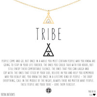Tribe Dainty Friendship Teepee Necklace | Bryan Anthonys