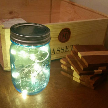 Firefly Lights Blue Mason Jar, Wedding Lights, Outdoor Lightning, Mason Jar Ideas, Fairy Lights, Mason Jar Light, Firefly, blue mason jars