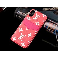 GUCCI & LV Tide brand card insertion simple and versatile iPhone8 mobile phone case #4