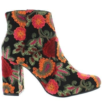 MIA Vail - Black Bouquet/Paisley Embroidered Heel Bootie