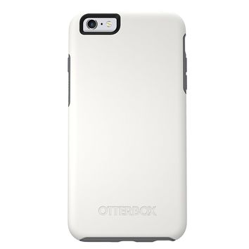 "OtterBox SYMMETRY SERIES Slim Case for iPhone 6s & iPhone 6 (4.7"") - Retail Packaging - GLACIER 2.0 (GUNMETAL GREY/WHITE)"