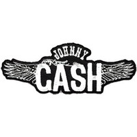 Johnny Cash Men's Wings Embroidered Patch Black