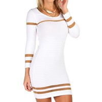 Sale-white Textured Sweater Tunic