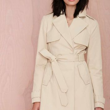 Nasty Gal Flash Out Trench Coat