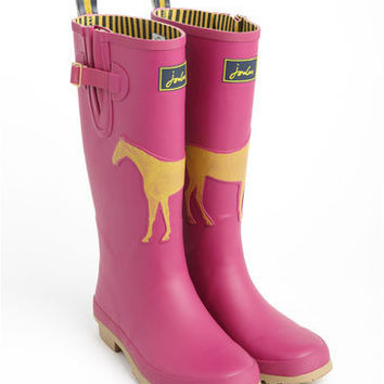 WINSTANLEY WELLY - Womens Horse Print Rain Boots