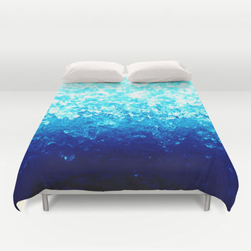Turquoise Blue Crystals Duvet Cover by 2sweet4words Designs | Society6
