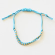 GOLDEN NUGGET FRIENDSHIP BRACELET - BLUE