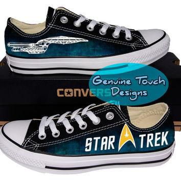 Custom Converse, Star Trek, Trekky, Galaxy Fanart shoes, Custom Chucks, painted shoes,
