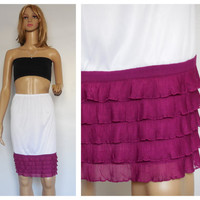 Purple Ruffle Slip extender, tiered extender slip, skirt extender slip, Dress Extender slip, PLEASE Write your length at the checkout