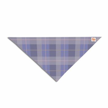 "afe images ""Purple Plaid Pattern"" Purple Blue Illustration Pet Bandana"