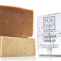 LAVENDER VANILLA organic, natural soap | handmade in Brooklyn, NY | exfoliating | 6 oz.