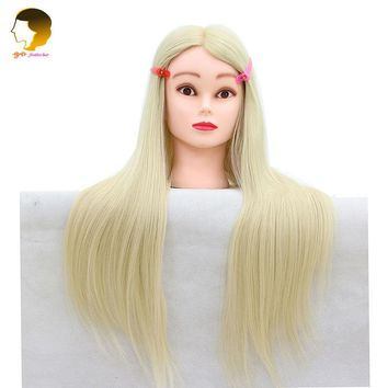 Dummy For Hairstyles Mannequin Head With Synthetic Hair For Hairdresser To Practice Professional Styling Head Cabeza Maniqui