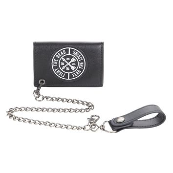 "Licensed cool AMC Walking Dead Fight the Dead 15"" Chain Wallet Men's Billfold Daryl Dixon NEW"