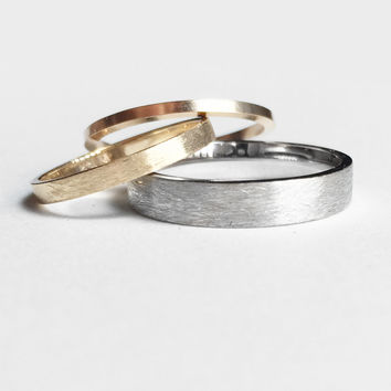 Unisex 14k Gold Bands with options