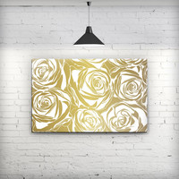 Gold and White Roses - Fine-Art Wall Canvas Prints