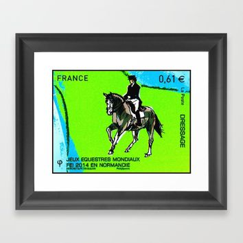 2014 FEI World Equestrian Games in Normandy DRESSAGE Framed Art Print by lanjee