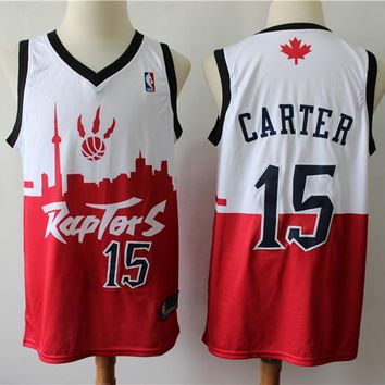 2019 Toronto Raptors 15 Vince Carter Red/White City Edition Jersey