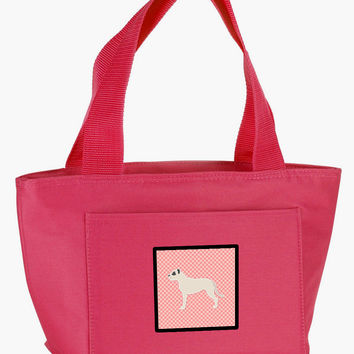 Dogo Argentino Checkerboard Pink Lunch Bag BB3667PK-8808