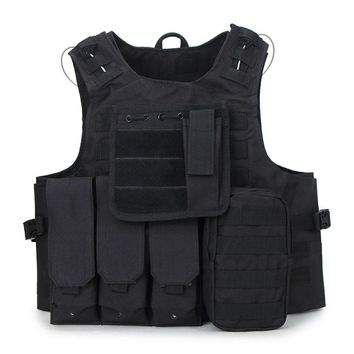 Unisex Camouflage Hunting Military tactical vest wargame Body molle Armor Hunting CS jungle outdoor equipment