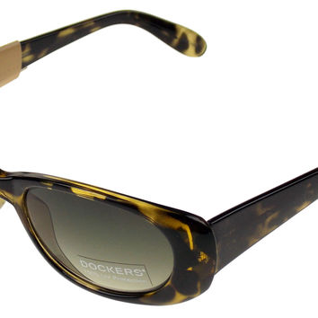 Levi Strauss DOCKERS Sunglasses 100% UV Oval Yellow Black Plastic 53-18-130 NEW