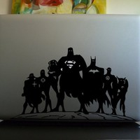 Superheroes Unite Macbook Decal - $7 | The Gadget Flow