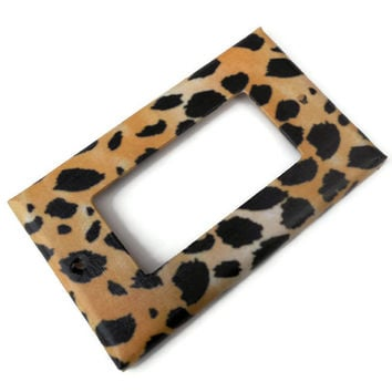Leopard Print Light Switch Plate, Leopard Decor, Choose Size, Leopard Bathroom Decor
