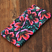Elegant Chic Pink Floral Design iPhone 6s Case/Plus/5S/5C/5/4S Protective Case #733