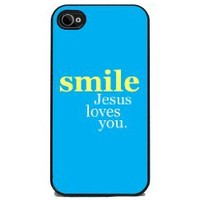 Smile, Jesus Loves You - iPhone 4 or 4s Cover: Cell Phones & Accessories