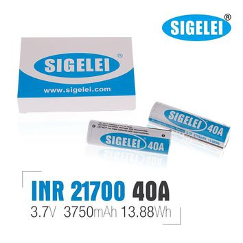 Original Sigelei INR 21700 Battery 40A 3.7V 3750mAh Rechargeable Li-ion Batteries For Ecig Vape Box Mods 100% Authentic