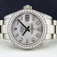 Rolex Lady Datejust President Gold Mother of Pearl Diamond 179159 - WATCH CHEST