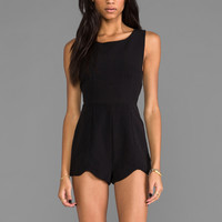 MINKPINK Saturday Fever Romper in Black
