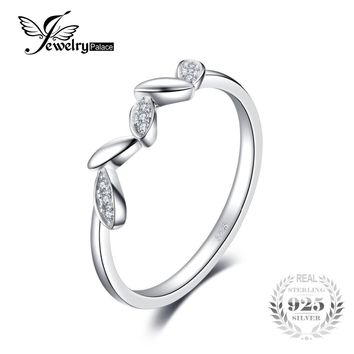 JewelryPalace Wedding Band Eternity Ring For Women Real 925 Sterling Silver Jewelry For Friend Gift Simple Ring