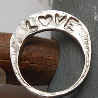 Love Love Love Nickel Ring by Centsations on Etsy