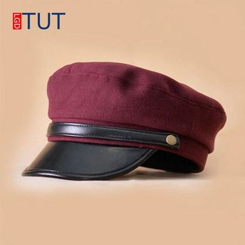 Military Caps for Men Women Parent-child Hat Newsboy Hats Fashion Spring British Flat Hats Retro Casual Captain Caps LGDTUT