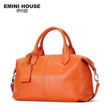 EMINI HOUSE Genuine Leather Women Messenger Bags 3 Colors Fashion Crossbody Bags For Women Shoulder Bag Women Handbags Hobos Bag
