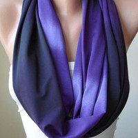 Infinty Scarf - Circle Scarf  -  Loop Scarf - Purple Scarf - Cotton Jersey