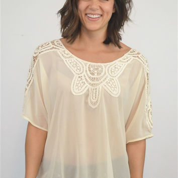 Tamara Tunic in Cream
