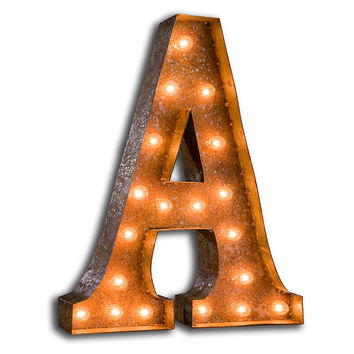 """24"""" Vintage Marquee Letters, A-Z, Signs"""