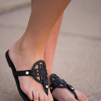 The Trinity Sandal, Black